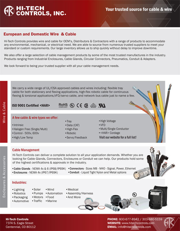 Advertising - Cables, Wires, Enclosures & Accessories