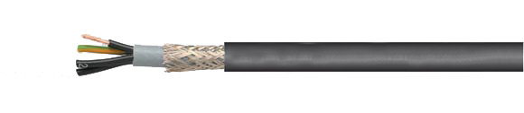 JZ-600 HMH-C flexible control cable, halogen-free, extremely fire resistant, oil resistant, 0.6/1 kV, shielded, EMI preferred type, RoHS Compliant, RoHS Approved, Hi-Tech Controls, European  , Halogen-free Security Cables