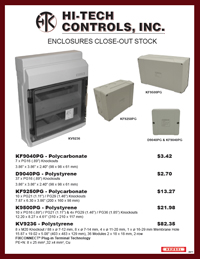 Enclosures Close-Out Flyer